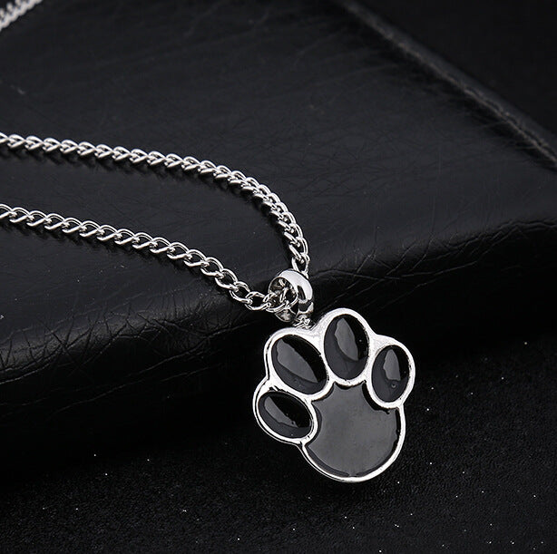 Cat or Dog Paw - Urn Pendant Necklace For Pet Cremation Ashes front image