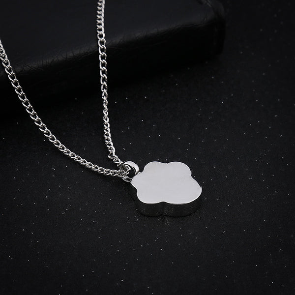 Cat or Dog Paw - Urn Pendant Necklace For Pet Cremation Ashes back image