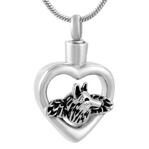 Cremation Jewelry - Pet Memorial Jewelry Dog Keepsake Urn Pendant Necklace