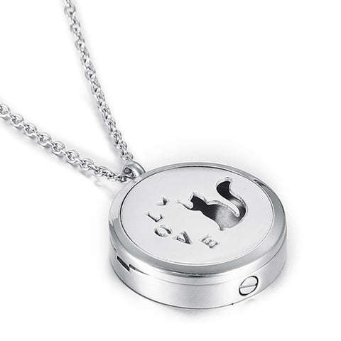 Locket Cremation Jewelry Pet Cat - Urn Pendant Necklace - Cremation Jewelry