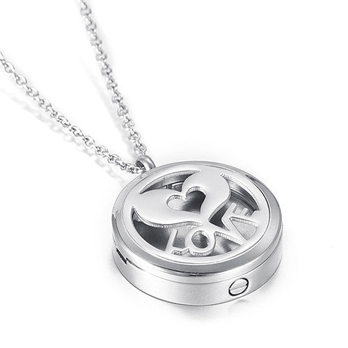 Locket Cremation Jewelry Love - Heart design - Urn Pendant Necklace - Cremation Jewelry