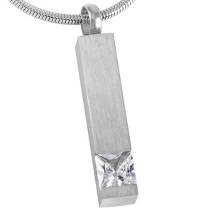 Column Design - Stainless Steel Necklace Memorial Cremation Pendant for Cremation Ashes