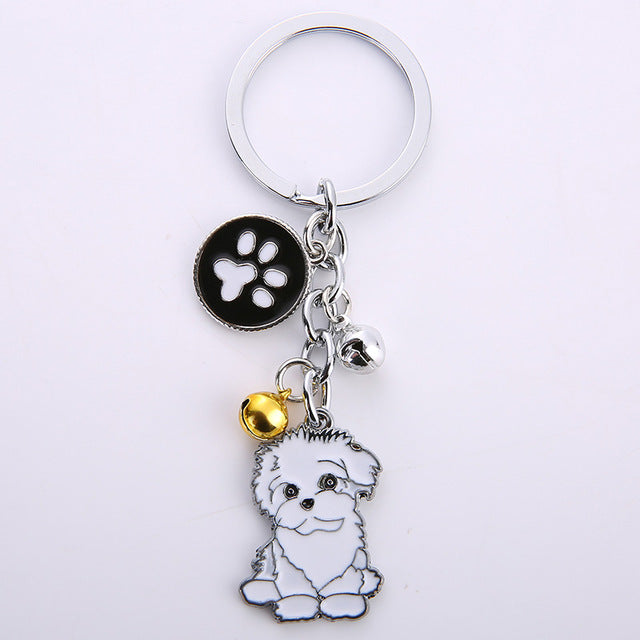 "Cute Dog Key chain -  Metal Pet Keychain - Click on the ""Design Number"" below to make a selection:"
