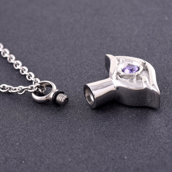 Eye of my Heart Cremation Urn Pendant - Cremation Jewelry -