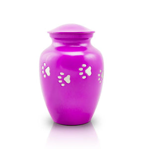 Paw Path Cremation Urn - Small Fuschia