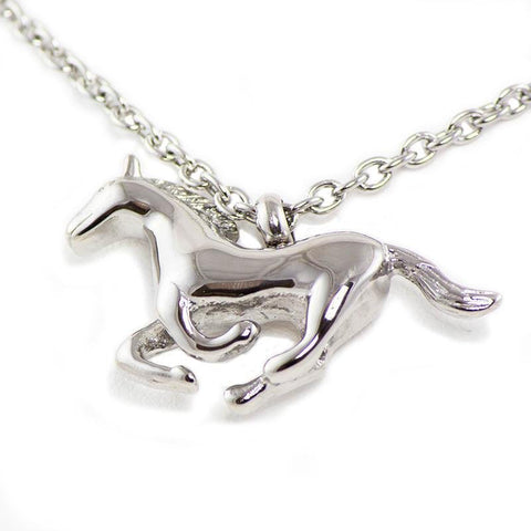 Running Horse Cremation Necklace - Urn Of Memories