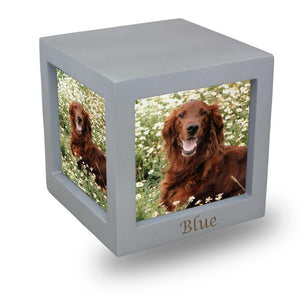 Silver Photo Cube Cremation Urn - Medium - Urn Of Memories