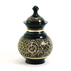 Timeless Black Pet Cremation Urns - Small - Urn Of Memories
