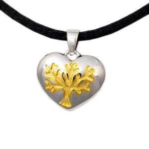 Tree of Life Heart Cremation Pendant - Sterling Silver - Urn Of Memories