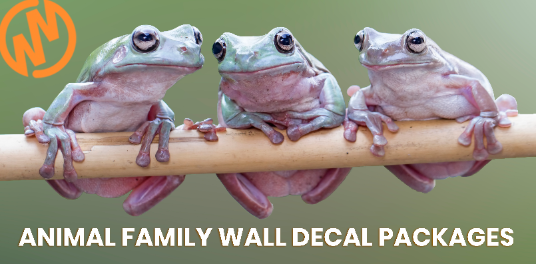 Animal Wall Decal Packages: 10 Cute Families
