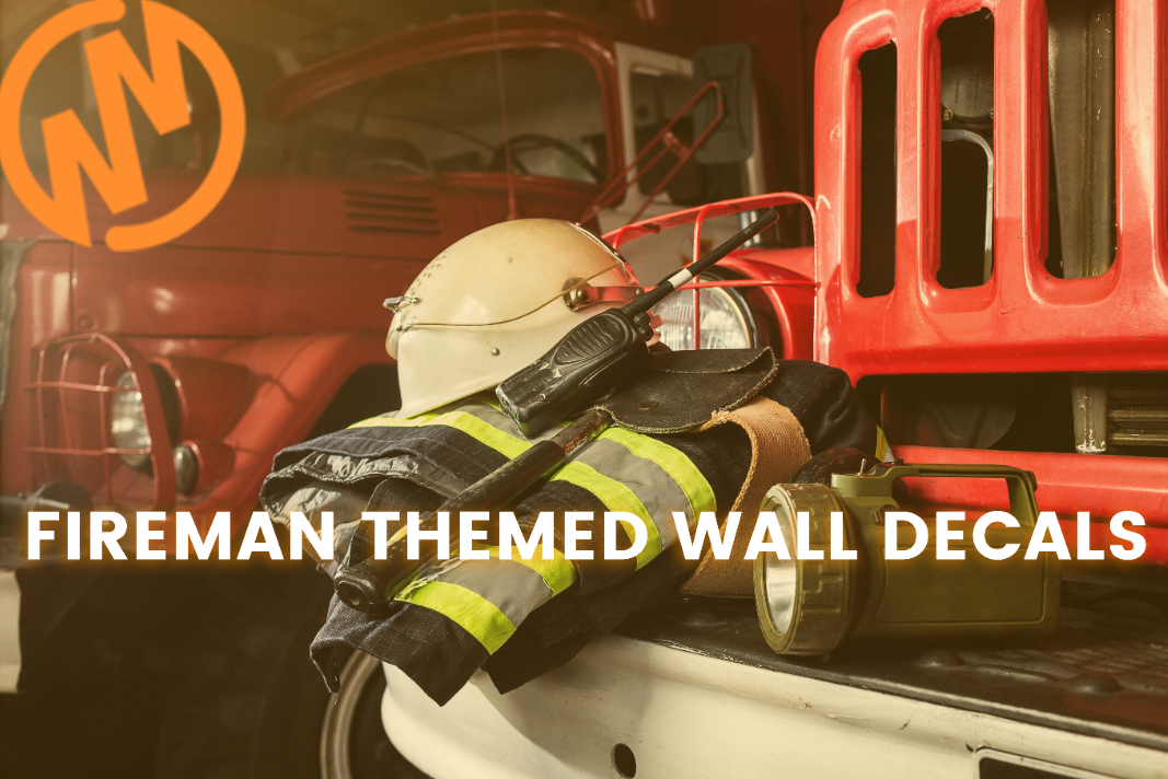 Fireman Theme Rooms Made Easy with Firetruck Wall Decals