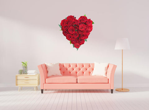 Rose Heart Wall Decal