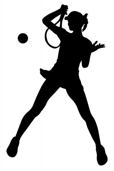 Female Player Tennis Wall Decal