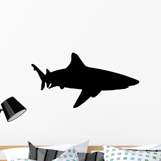 Realistic Black Shark Silhouette Wall Decal Wallmonkeys Com Over 3,317 shark silhouette pictures to choose from, with no signup needed. usd