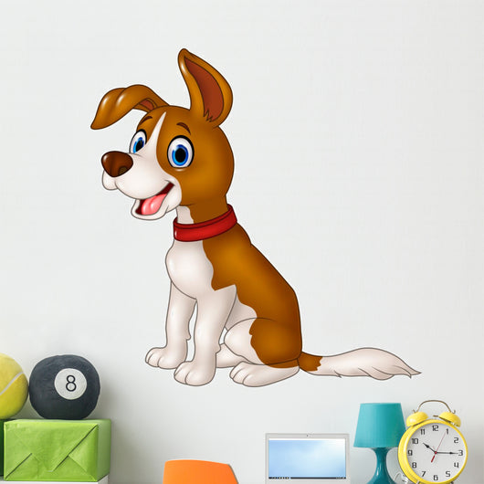 Cartoon Funny Puppy Dog Wall Decal