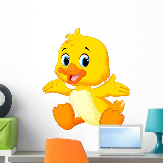 Cute Baby Duck Lifted Wall Decal