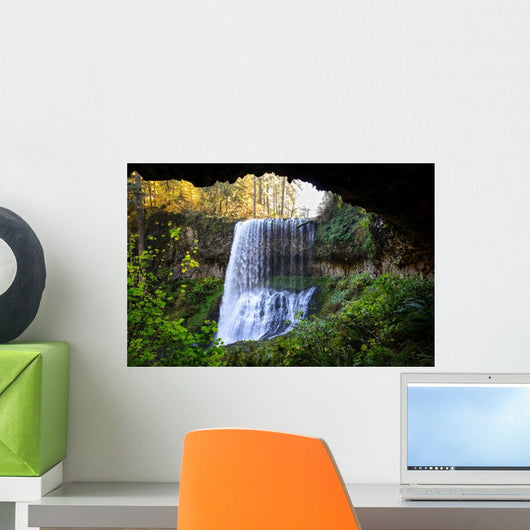 Silver Falls State Park Waterfall Wall Decal