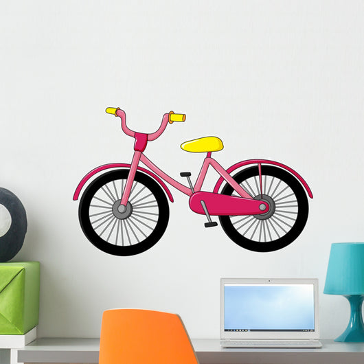 Pink Bike Wall Decal