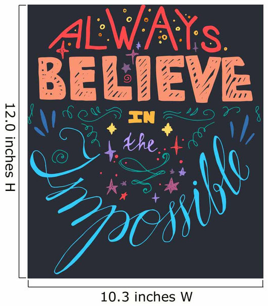 Always Believe Inspirational Quote Wall Decal