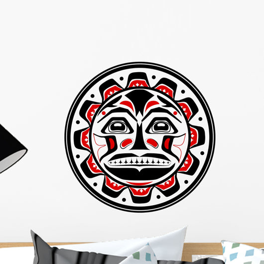 Tribal American Ethnic Sun Wall Decal