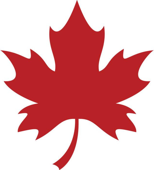 Red Maple Leaf Wall Decal