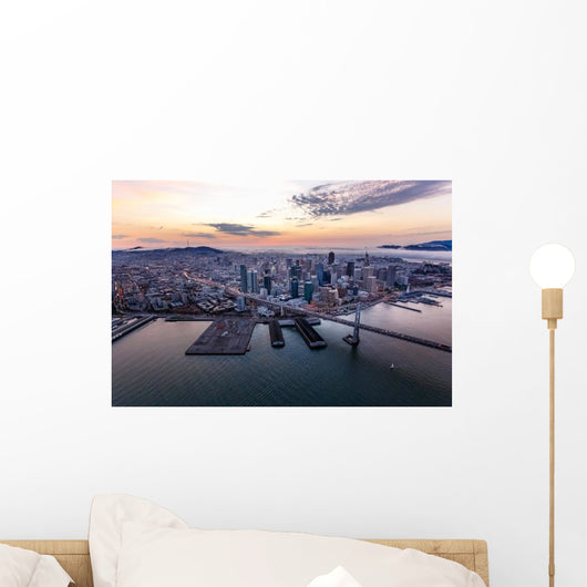 Aerial San Francisco Sunset Wall Decal