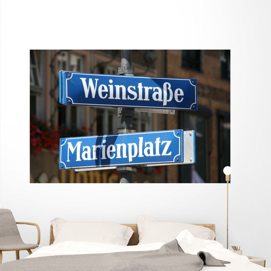 Street and Square Name Wall Mural