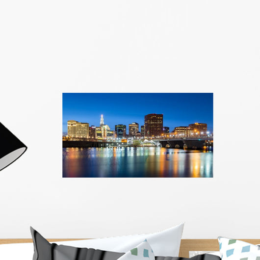 Hartford Skyline and Founders Wall Decal