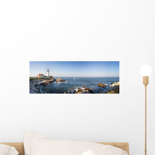 Portland Head Lighthouse Panorama Wall Decal