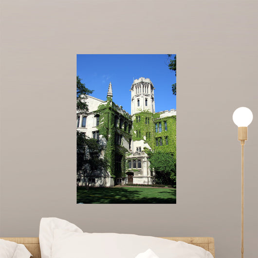 University of Chicago Neogothic Building Wall Mural