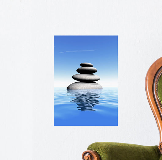 Galet Zen Wall Decal Design 1
