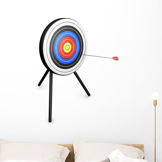 Arrow Hitting Target Wall Decal