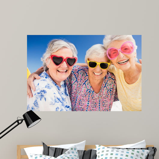 Summer Fun Smiling Seniors Wall Decal