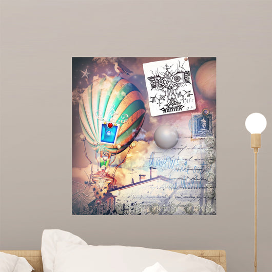 Steampunk and Old Fashioned Wall Decal Design 2