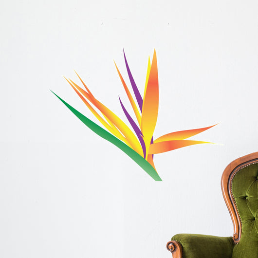 Illustration Bird Paradise Flower Wall Decal