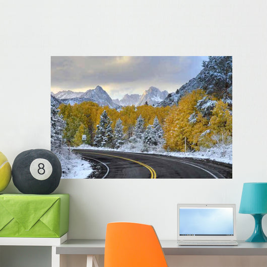 Empty Mountain Road Sierra Wall Decal