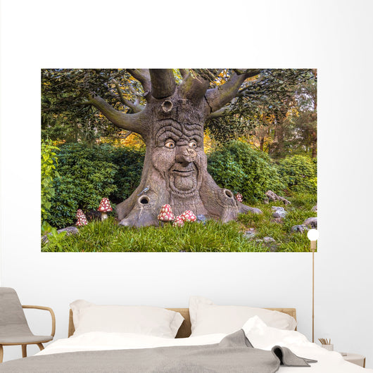 Talking Tree with Happy Wall Decal