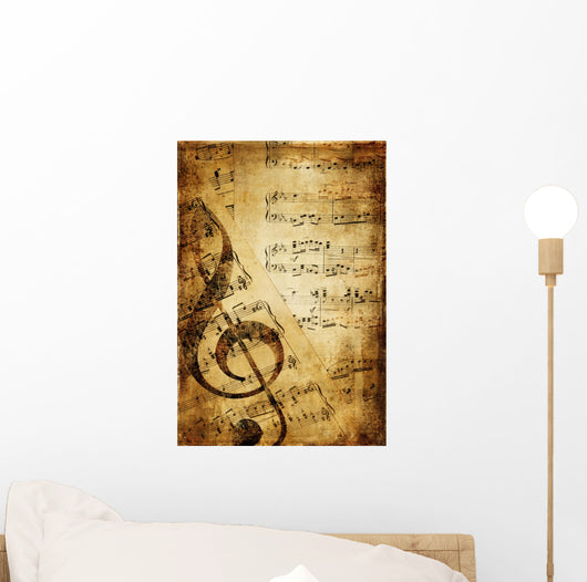 Vintage Musical Background Wall Mural