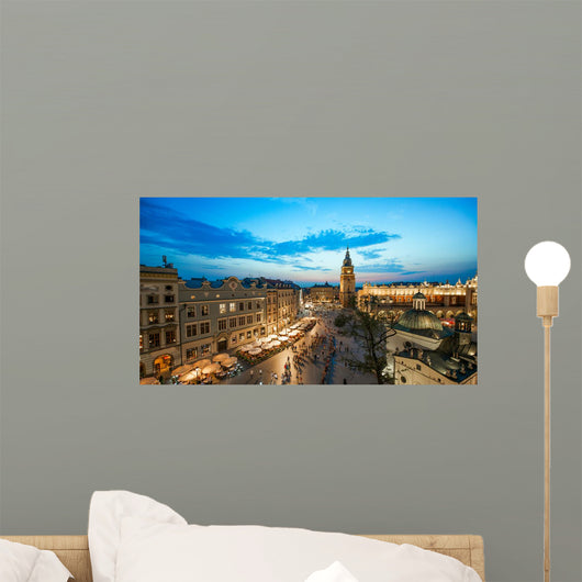 Krakow Market Square Poland Wall Decal