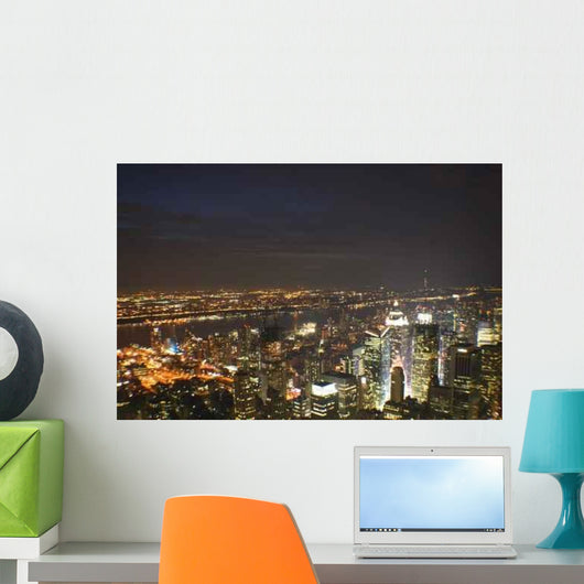 Time Square Night Wall Decal