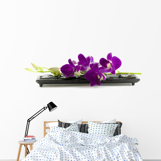 Beautiful Purple Orchid Wall Decal