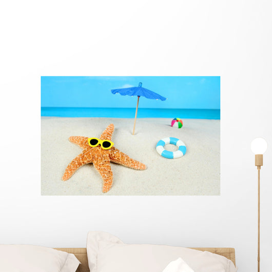 Sunbathing Starfish Wall Mural