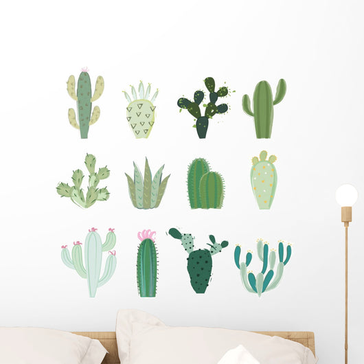 Collection Cactus Wall Decal Sticker Set