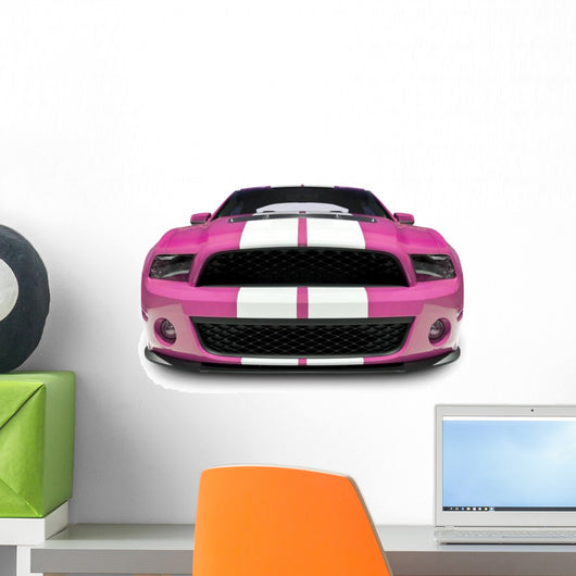 Pink Muscle Car Wall Decal