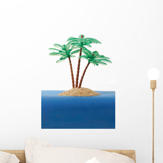 Private Desert Island Wall Decal