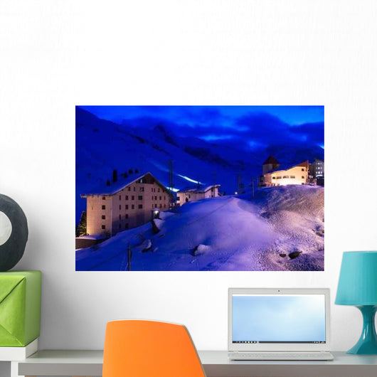Ski Run Night Wall Decal