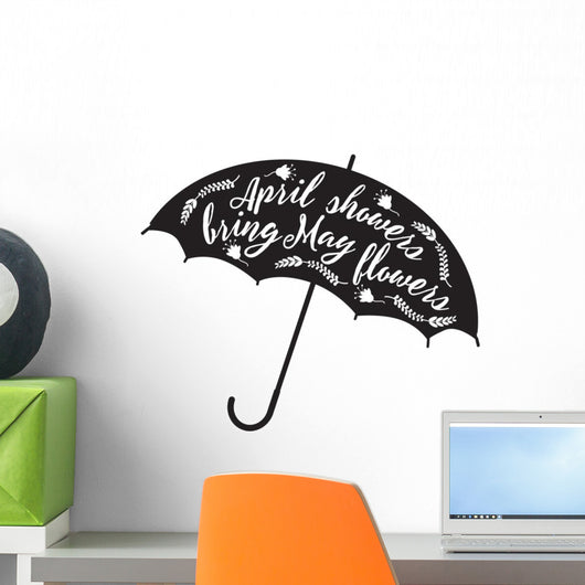 April-showers Bring May-flowers Umbrella Wall Decal