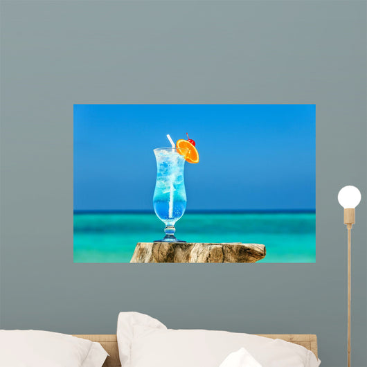 Beach Cocktail Wall Decal
