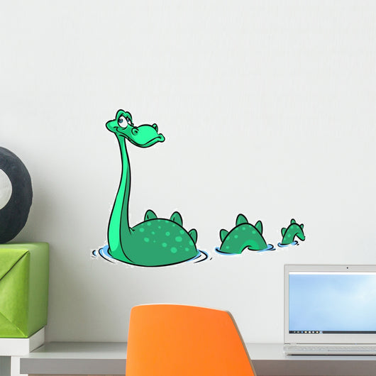 Cartoon Loch Ness Monster Wall Decal
