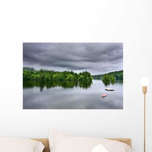 Stormy Lake Scene Wall Decal